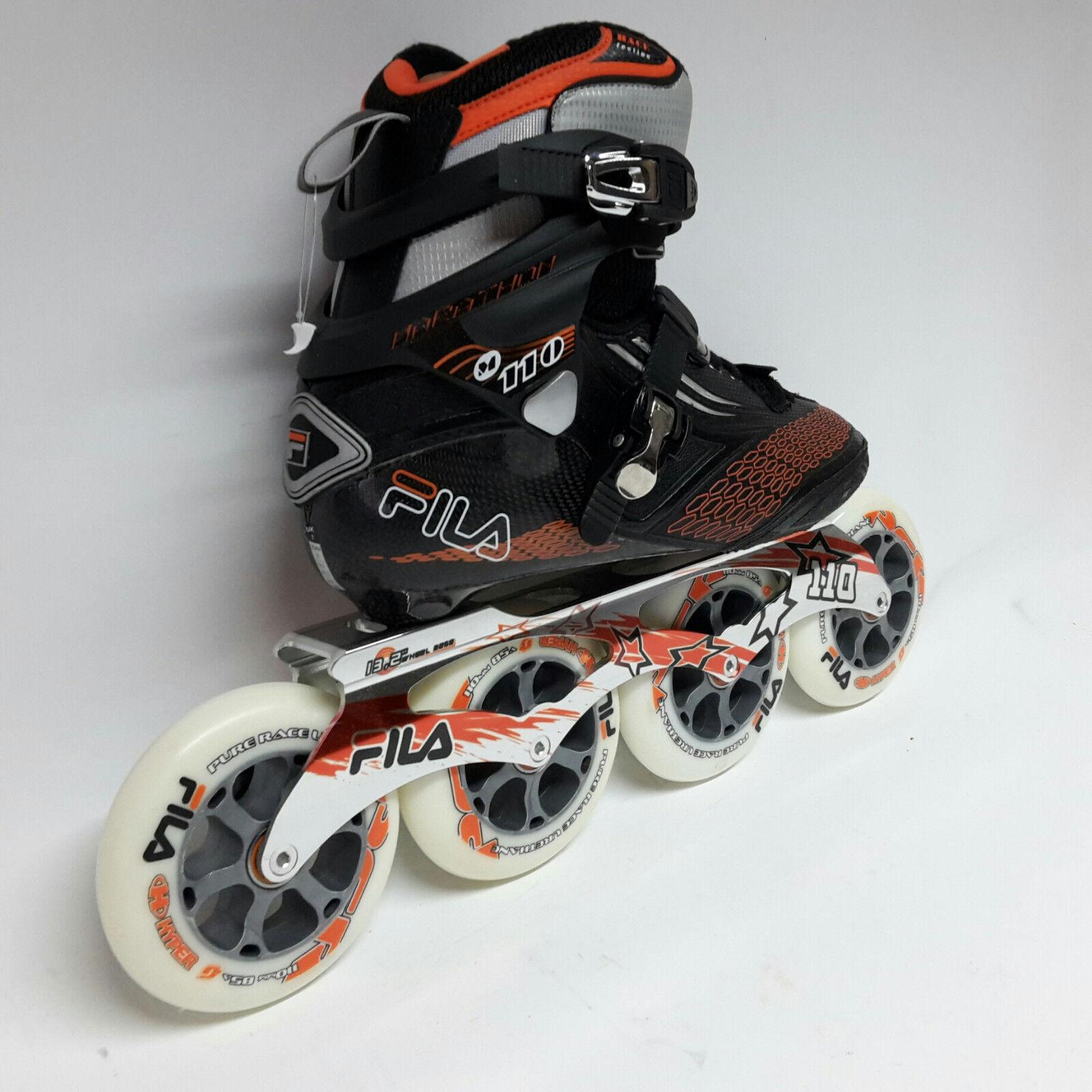 41 TOP Fila M 110 black Speedskate Marathon Inline Skates 110 mm Rollen Gr Inline-Skates
