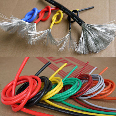 20 22 24 26 28 30AWG Flexible Silicone Wire Color Selectable 5M Lot