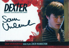Dexter Seasons 7 & 8 Autograph Card ASU Sam Underwood as Zach Hamilton
