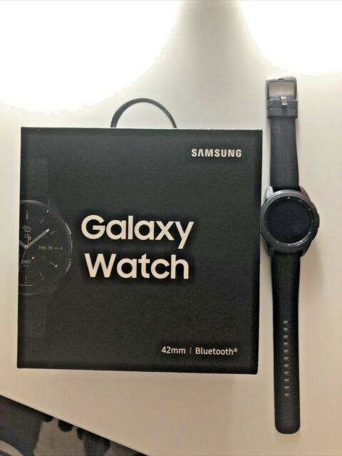 Samsung Galaxy Watch 42mm Bluetooth Midnight Black - Hardly Used