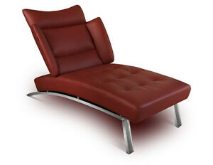 Recamiere Modern modern leather chaiselongue daybed recamiere leather wine