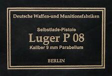 LUGER P08 PRESENTATION CASE BOX LABEL colt 1911 walter p38 pp ppk ww1 ww2 mauser