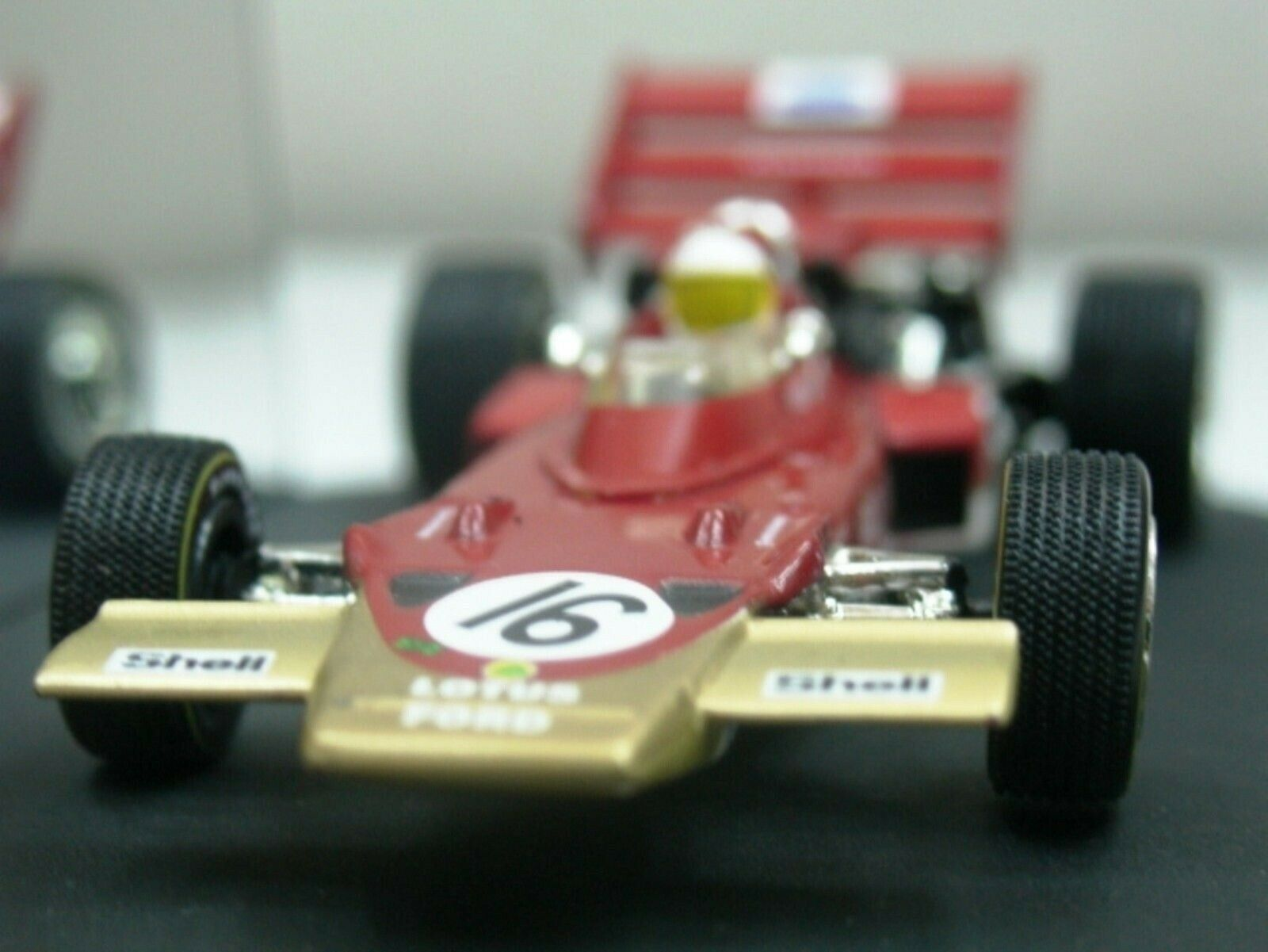 WOW estremamente raro LOTUS 72C FORD #16 MIGLIA Germania 1970 1:43 Quartzo-SPARK