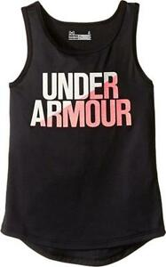 ee46f2b0 Under Armour Girls Black Dry Fit Tank Top Size 2T 4 6 | eBay