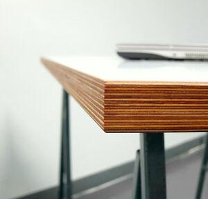 Multiplex Weiß tischplatte multiplex 30mm melaminbeschichtet weiß z b für