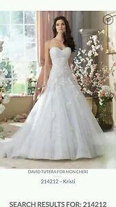 Image Is Loading David Tutera 214212 Kristi Ivory Drop Waist Wedding