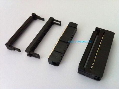 50pcs Insulation Displacement connecteur FC-40 connecteur 40 Pin Female header 2.54 mm