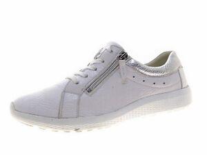 Waldläufer Damen Schuhe Sneaker Schnürschuhe Leder Weiß Freizeitschuhe Gr 39