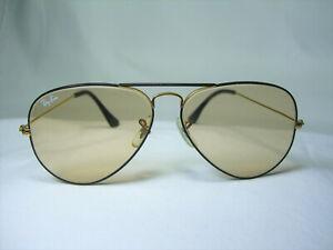 Ray-Ban-B-amp-L-sunglasses-Aviator-gold-plated-men-039-s-women-039-s-vintage