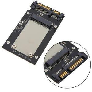 Black-Mini-pcie-PCI-E-mSATA-SSD-to-2-5-034-SATA-Convertor-mSATA-SATA-Adapter-Card