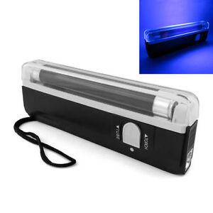New ! Portable Handheld UV Black Light Torch Lamp Black-light Money Detector