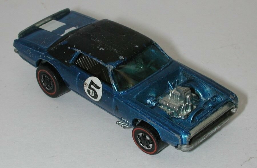 Redline Hotwheels bluee 1970 TNT Bird oc14991