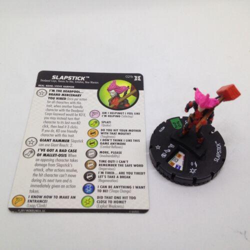 Heroclix Deadpool /& X-Force set Slapstick #021b Uncommon figure w//card!