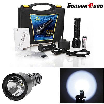 XTAR D06 XM-L2 900 Lumens 2.75V-4.2V 18650//18700 Diving Flashlight Set