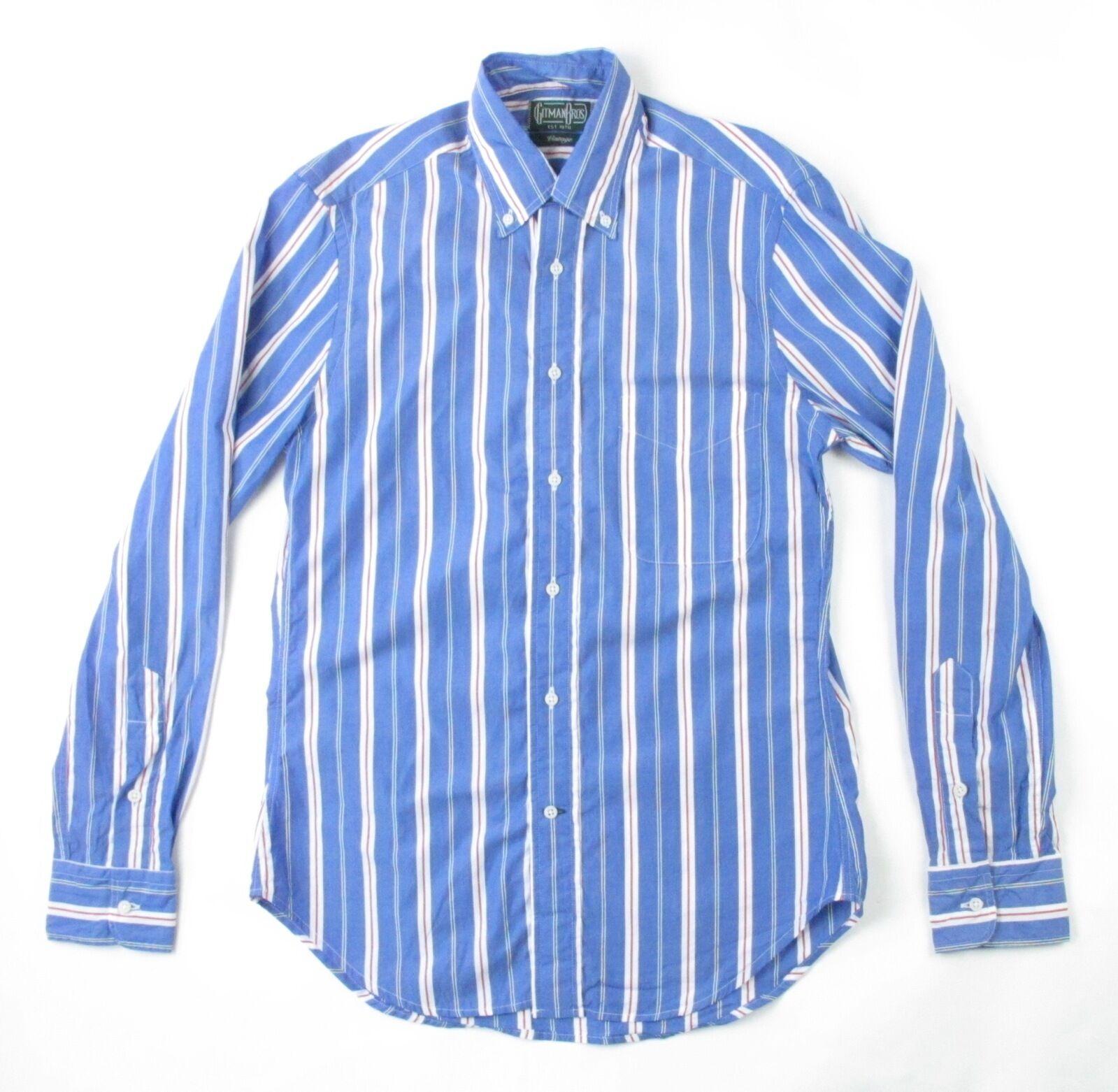 Gitman Vintage Yachting Stripe Shirt bluee S L NWT Retail