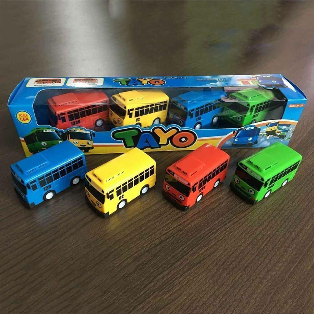 4pcs Cars Toy The Little Bus Tayo Friends Mini Special Set Tayo Rogi Gani Rani