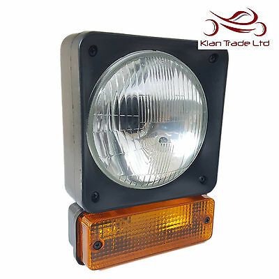 JCB Headlight LH+RH pair Lights 3C,3CX,3D,3DX Tractors Digger Headlamp Dump Truck Pair