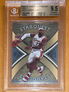 POP-14-2008-LeBron-James-UPPER-DECK-STARQUEST-GOLD-SQ17-BGS-9-5-PSA-lakers-prizm