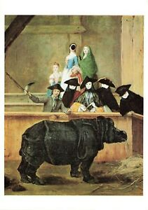 Art-Postcard-Exhibition-of-a-Rhinoceros-at-Venice-by-Pietro-Longhi-IP2
