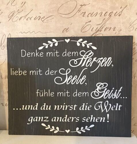 Shabby wasserf.Aufkleber Möbeltattoo weiß f.Schild Leben,Schrank,f.Milchkanne?