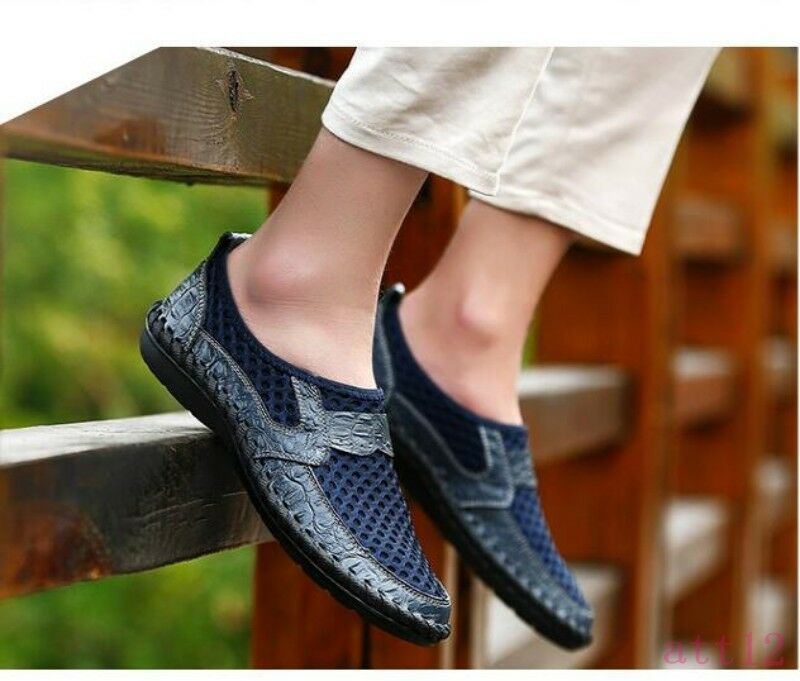 Men's Mesh Breathable Comfort Loafer shoes Slip On Drive Gommino shoes Handmade