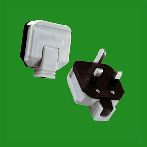 UK 3 amp 3a fused plug BS1363 in black or white