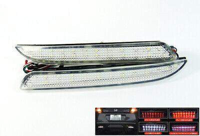 LEDIN Red Lens 24 LED Bumper Reflector Tail Brake Stop Light Fog TSX Wagon Insight ZE2