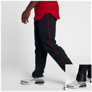 d3f62650eec2b3 Nike Jordan AJ 3 Retro Vault Men s Woven Pants 3XL Black Red Cement ...
