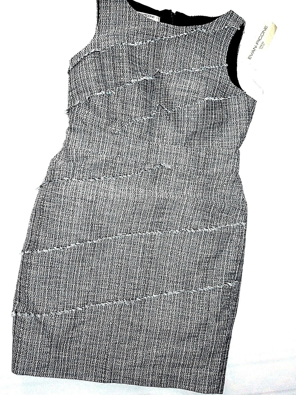EVAN Picone A line blueeberry bluee tweed  A line Dress size 8P 8 Petite