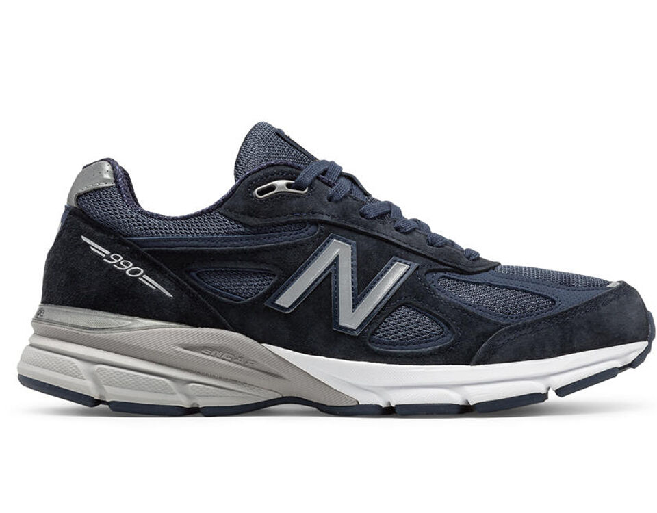 New Balance M990NV4 Men's 990v4 Running Shoes Navy Athletic Performance Footwear