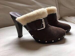 Michael Michael Kors Brown Leather Faux