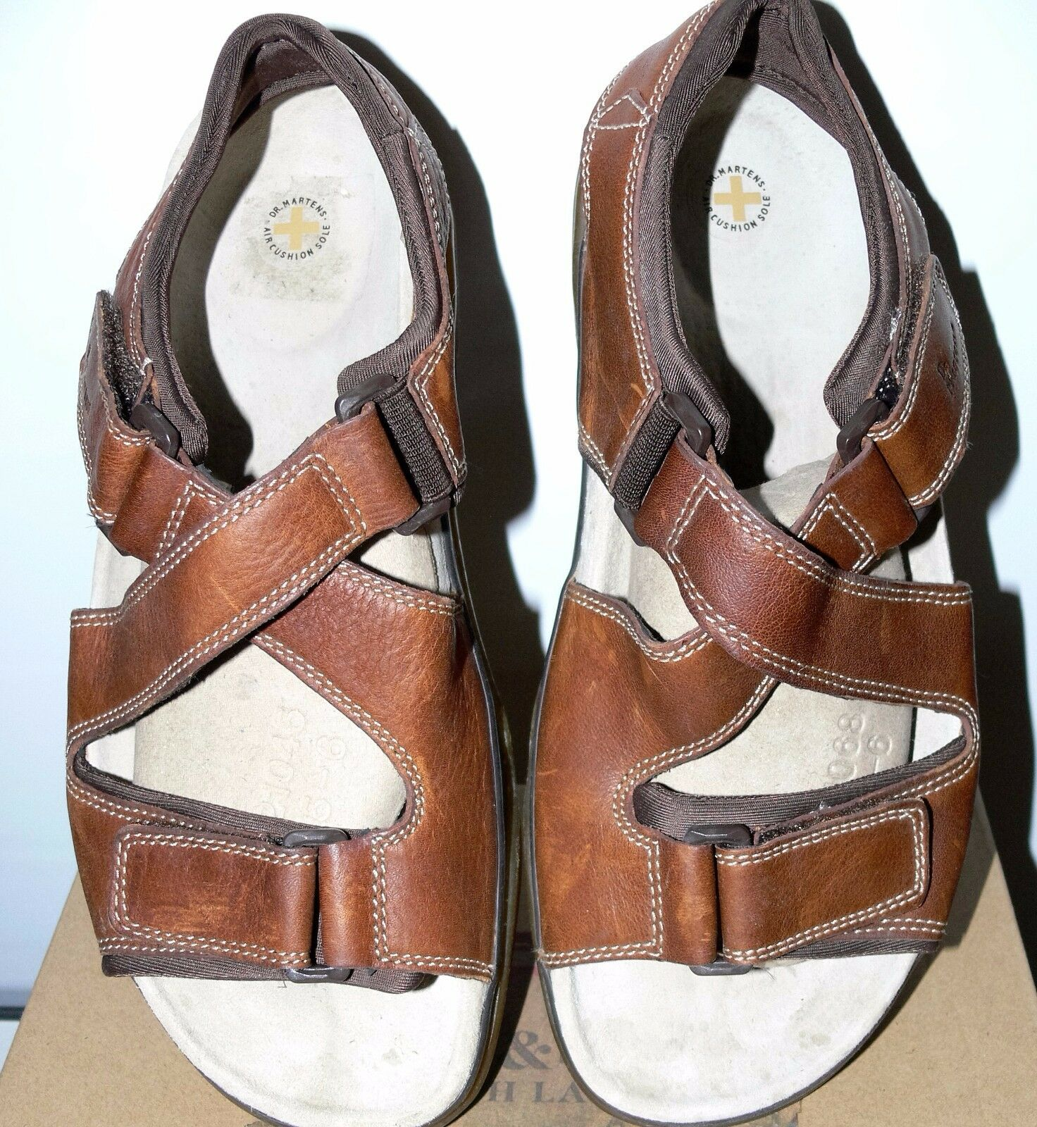 NEW DR.MARTENS GENUINE LEATHER BROWN MEN'S SANDALS SIZE SIZE SIZE US 11 587a57