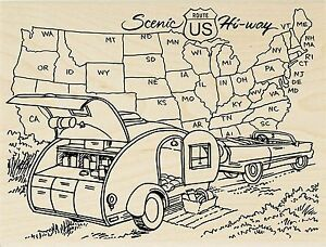 Travel Trailer Rubber Stamps