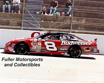 DALE EARNHARDT JR #8 BUD CHEVY MARTINSVILLE 2000 NASCAR WINSTON CUP 8X10 PHOTO