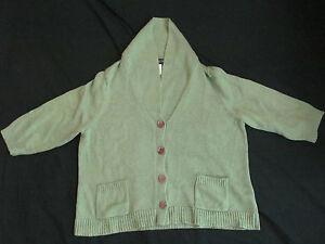 Women's Jones New York Green Short Sleeve Cardigan Sweater Shirt Plus Size 3X