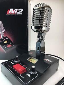 Noir-Chrome-Delta-M2-amplifie-Puissance-Dynamique-base-Microphone-Cobra-CB-HAM-Microphone