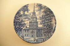 Vintage Liberty Blue Historic Colonial Scenes England Miniature Plate