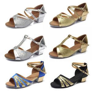 Ballroom-heeled-Salsa-tango-latin-dance-shoes-children-girls-women-kidsSize24-41