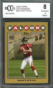 2008-topps-gold-border-331-MATT-RYAN-atlanta-falcons-rookie-card-BGS-BCCG-8