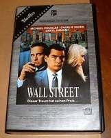 VHS - Wall Street - Oliver Stone - Charlie Sheen - 1987 - Videokassette
