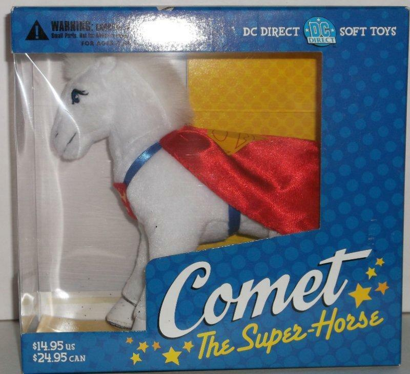 DC Direct Comet The Super-Horse Soft Toy Supergirl's Pet Horse Rare Hard To Find