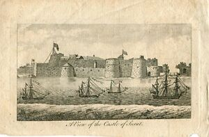 India-a-View-Of-The-Castle-Of-Surat-Engraving