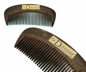 Dr-Dittmar-Wooden-Comb-Snake-Wood-Men-039-s-Pocket-Fine-Tooth-Type-3-1-2in-Top