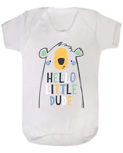 Hola poco Dude Bebé Chaleco Babygrow Bodysuit regalos de bebé nuevo bebé ducha regalos