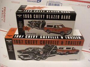 ERTL-WIX-1969-CHEVY-BLAZER-W-1967-CHEVELLE-amp-TRAILER-1-24-DIECAST-BRAND-NEW-NIB