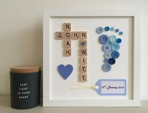 Image Is Loading B Scrabble Art Picture Frame Personalised 2 3