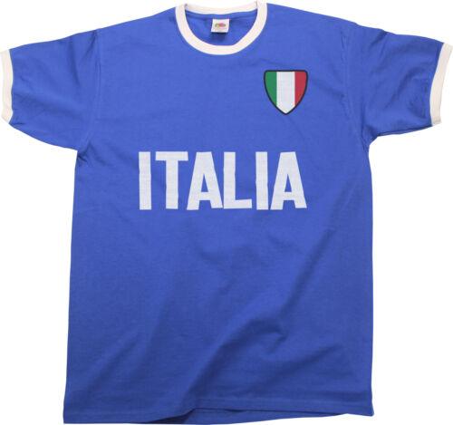 Sports Euro 2016 etc. Homme Italia Italie Pays nom Ringer T-Shirt football
