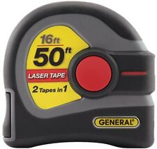 Tape Measure 2 In 1 16 Ft Plastic Lockable And 50 Ft Laser Distance Measurer