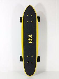 "Old School 25/"" x 6.5/"" Fiberglass Skateboard Cruiser Complete Blue"