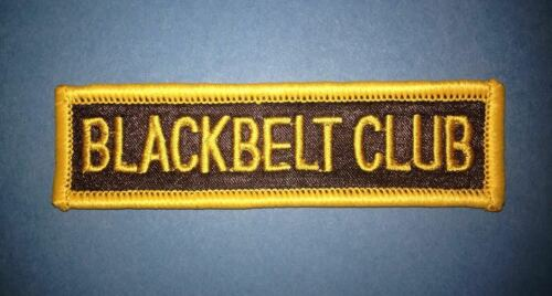 Vintage 1970/'s Karate Black Belt Club MMA Martial Arts Gi Jacket Patch Crest 455